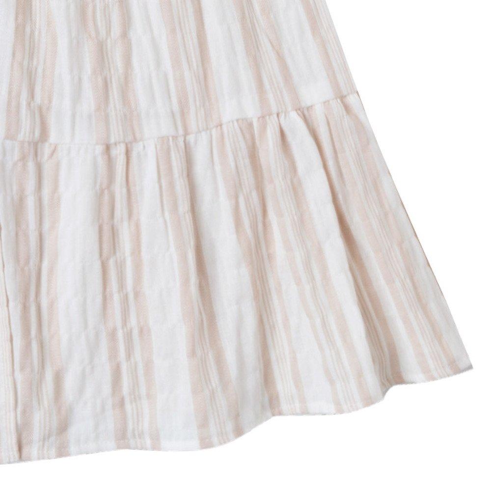 【50%OFF】sand stripe tiered maxi dress sand/coconut img3