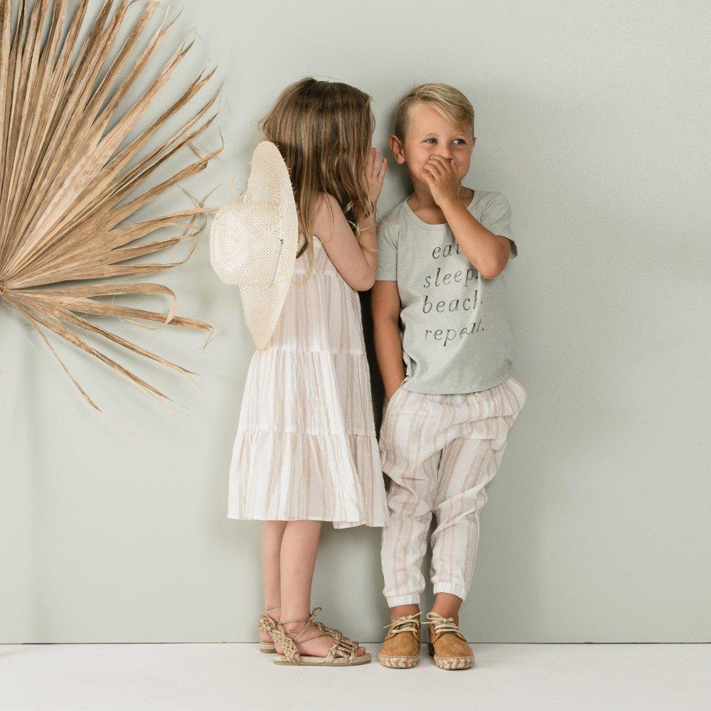 【50%OFF】sand stripe tiered maxi dress sand/coconut img4