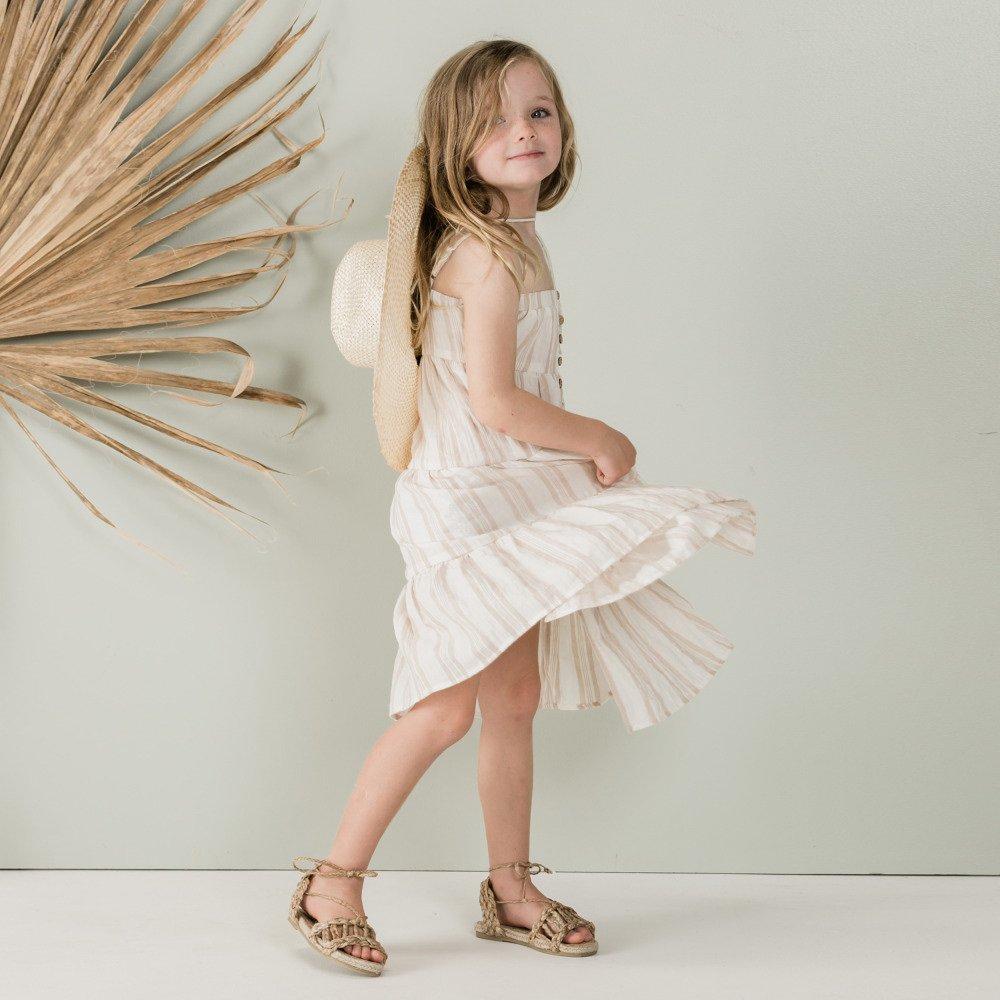 【50%OFF】sand stripe tiered maxi dress sand/coconut img5