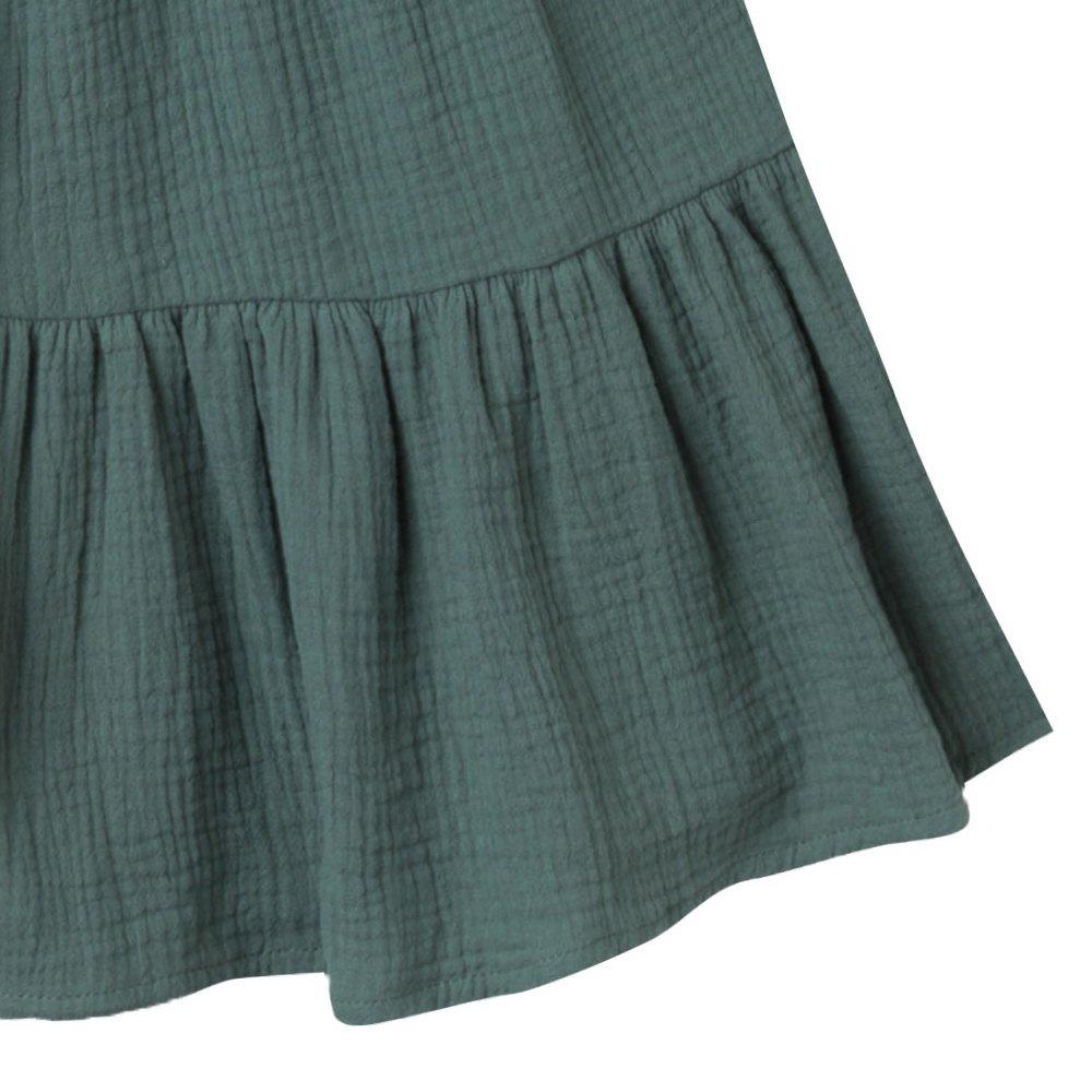 【50%OFF】sand stripe tiered maxi dress rainforest img3