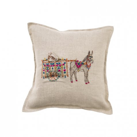 Donkey Cart Pocket Pillow