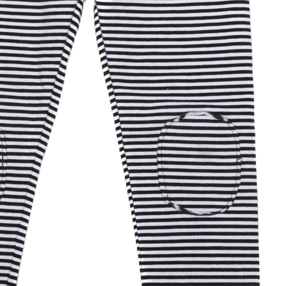 【20%OFF→30%OFF】BASICS Legging B/W stripes img1
