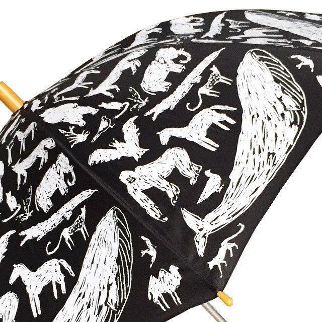 ANIMAL UMBRELLA with Tanaka Kentarou Black img1