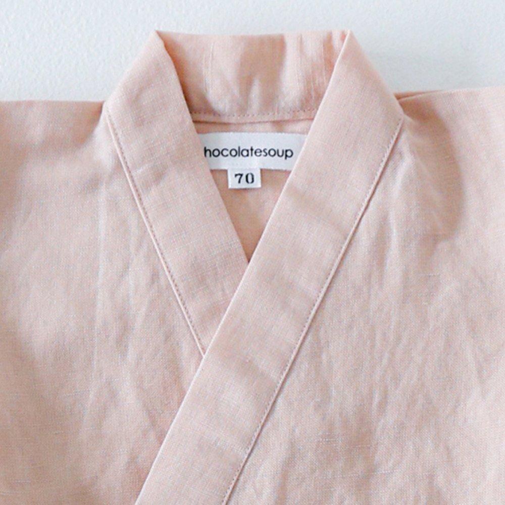 Linen Jinbei Rompers Pink img1