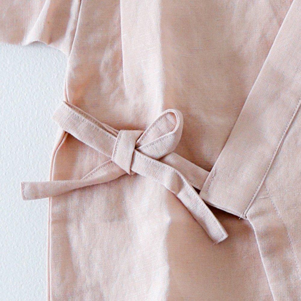 Linen Jinbei Rompers Pink img3