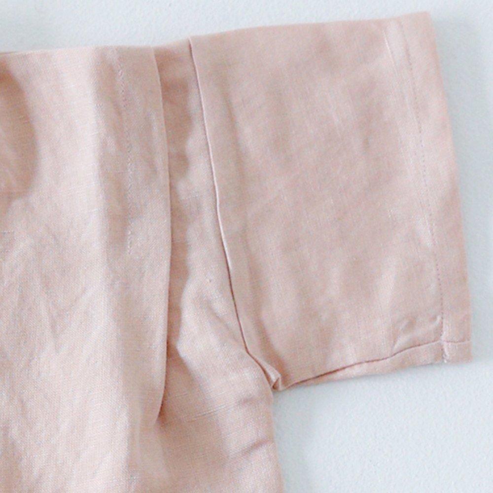 Linen Jinbei Rompers Pink img5