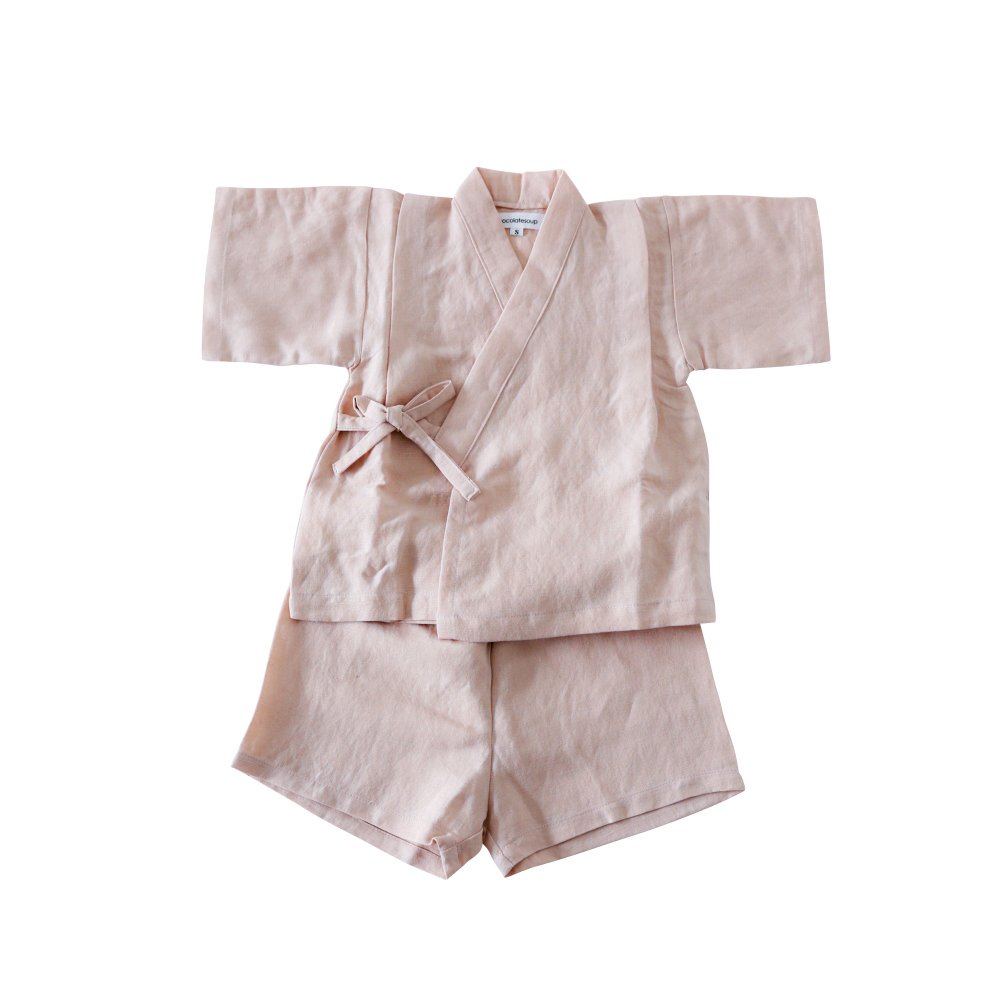 Linen Jinbei Separate Pink img