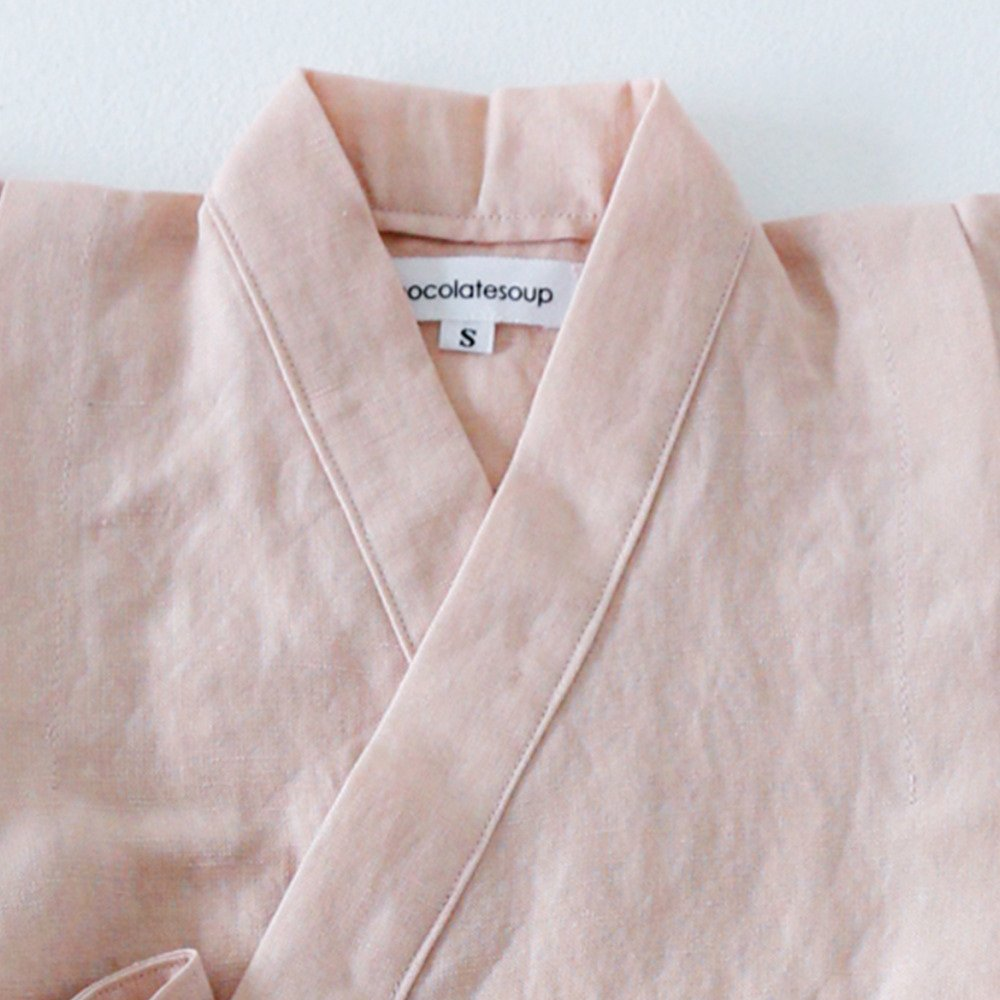 Linen Jinbei Separate Pink img1