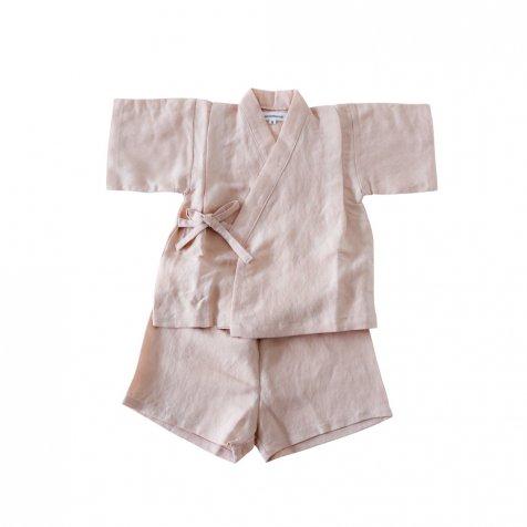 【SUMMER SALE 20%OFF】 Linen Jinbei Separate Pink