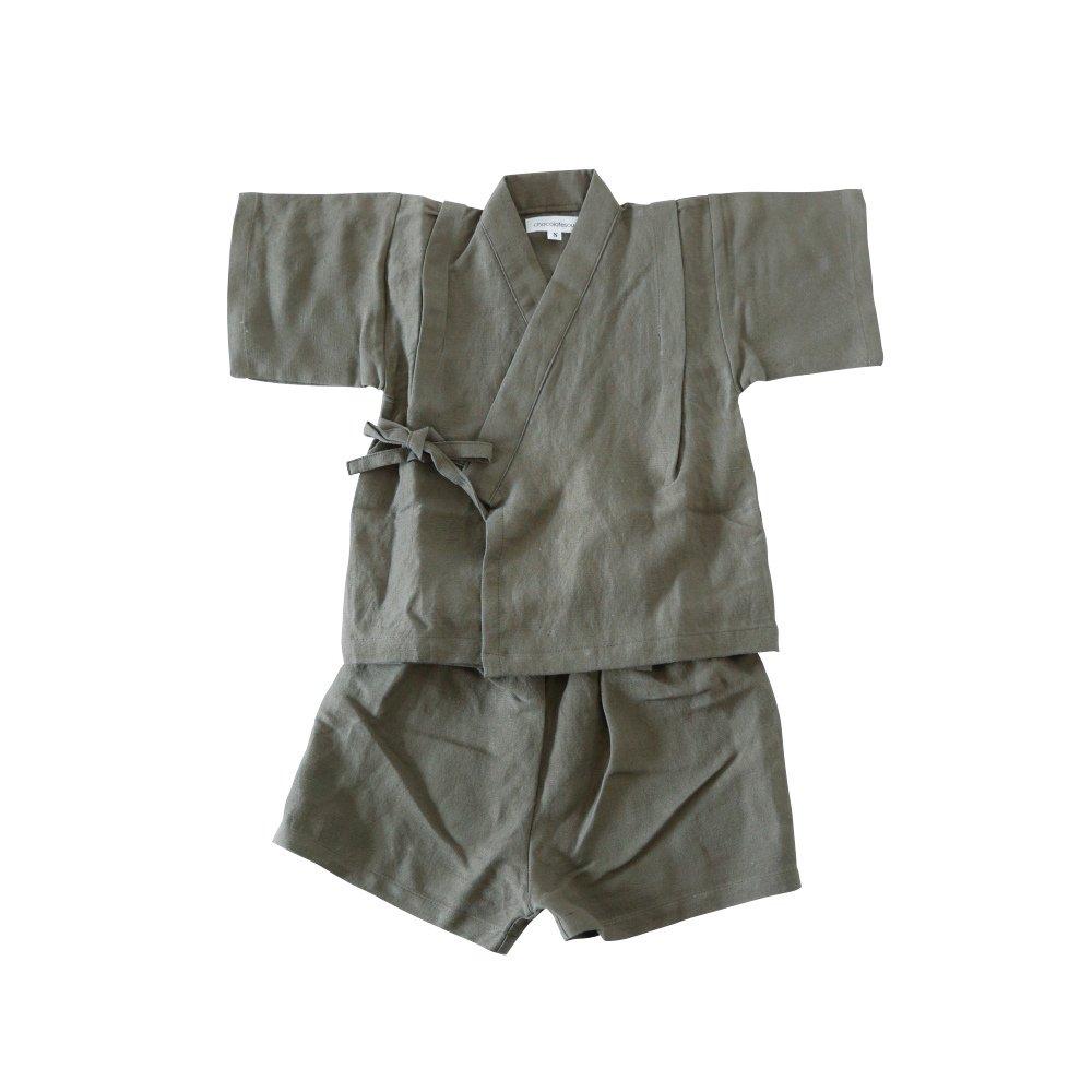 Linen Jinbei Separate Khaki img