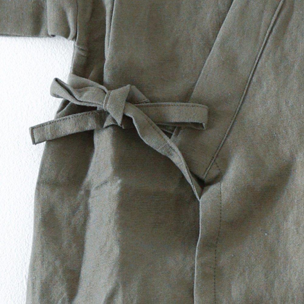 Linen Jinbei Separate Khaki img3