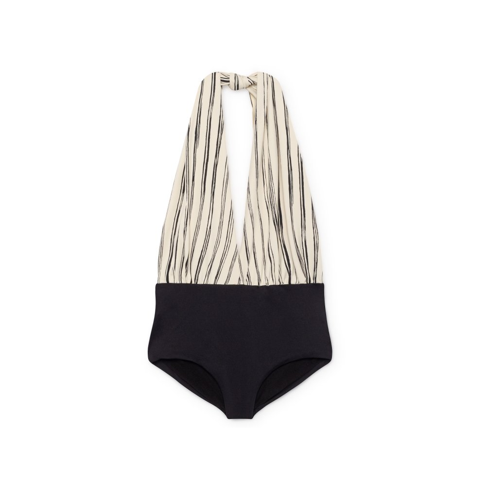 【SUMMER SALE 20%OFF】 Bamboo Wrap bathing suit Black img3