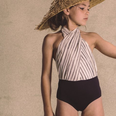 【20%OFF→30%OFF】Bamboo Wrap bathing suit Black