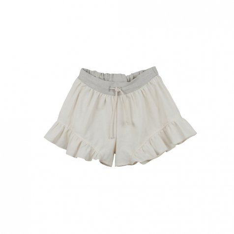 Loose-fitting natural-coloured shorts