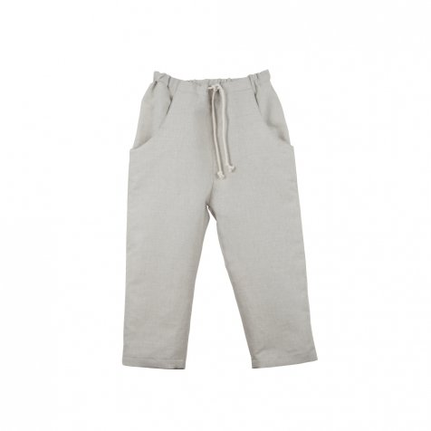 【40%OFF】Stone-coloured ankle-length trousers with visible pocket