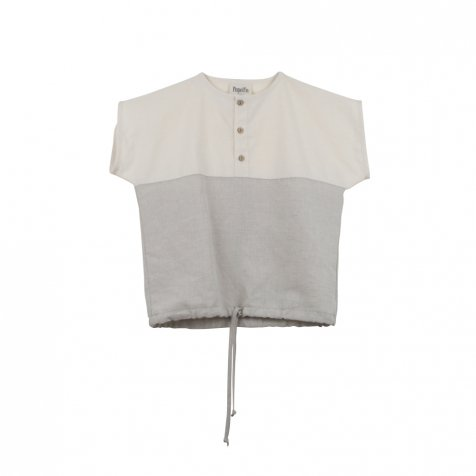 【SUMMER SALE 20%OFF】 Natural-coloured yolk shirt