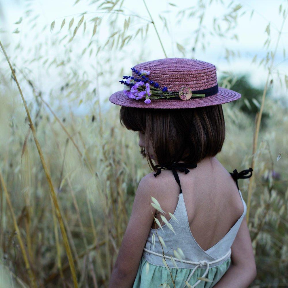 Dusty pink straw hat img3