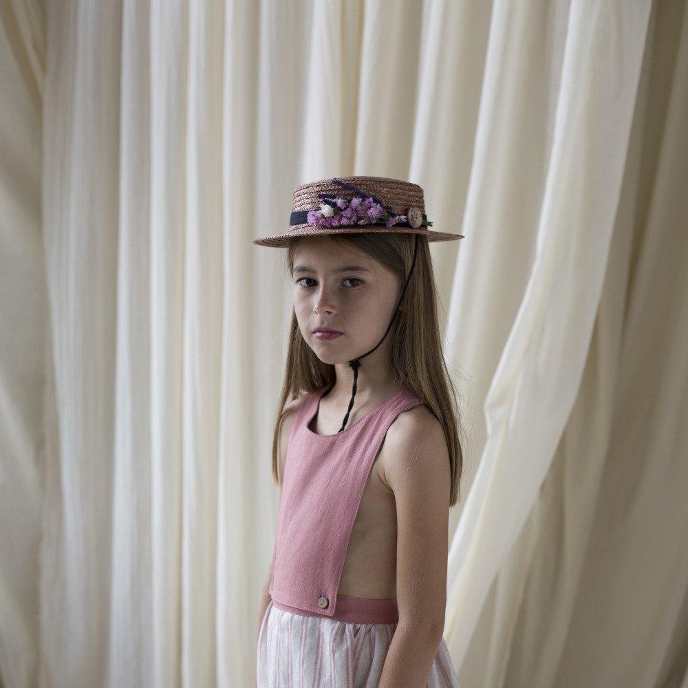 Dusty pink straw hat img4