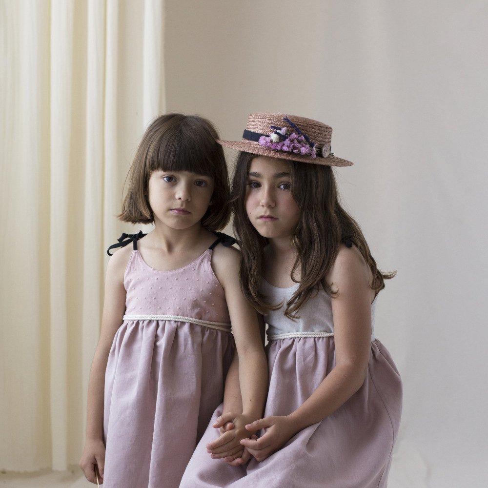 Dusty pink straw hat img5