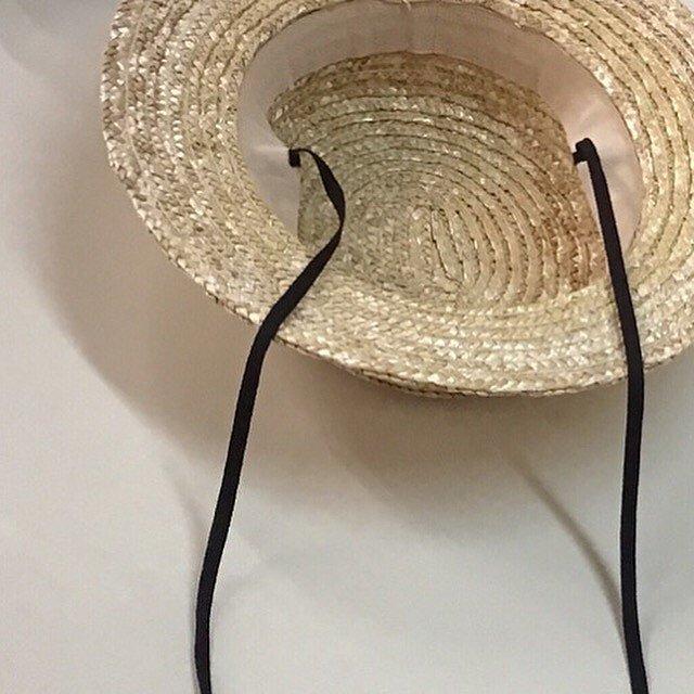 Dusty pink straw hat img6