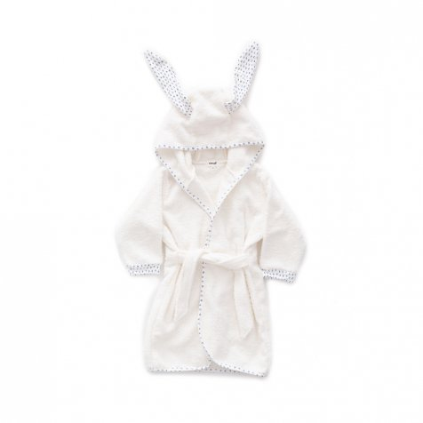Hooded Robe white / numbers