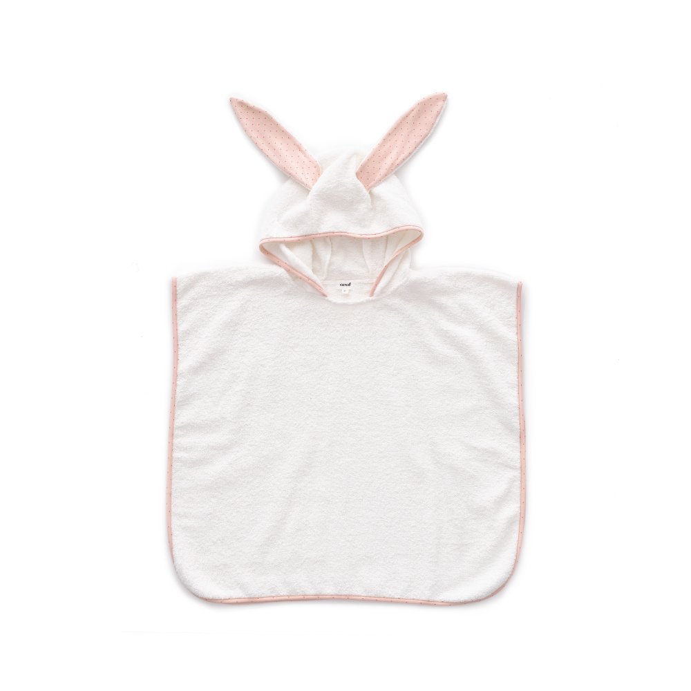 Terry Poncho light pink / rust dots img