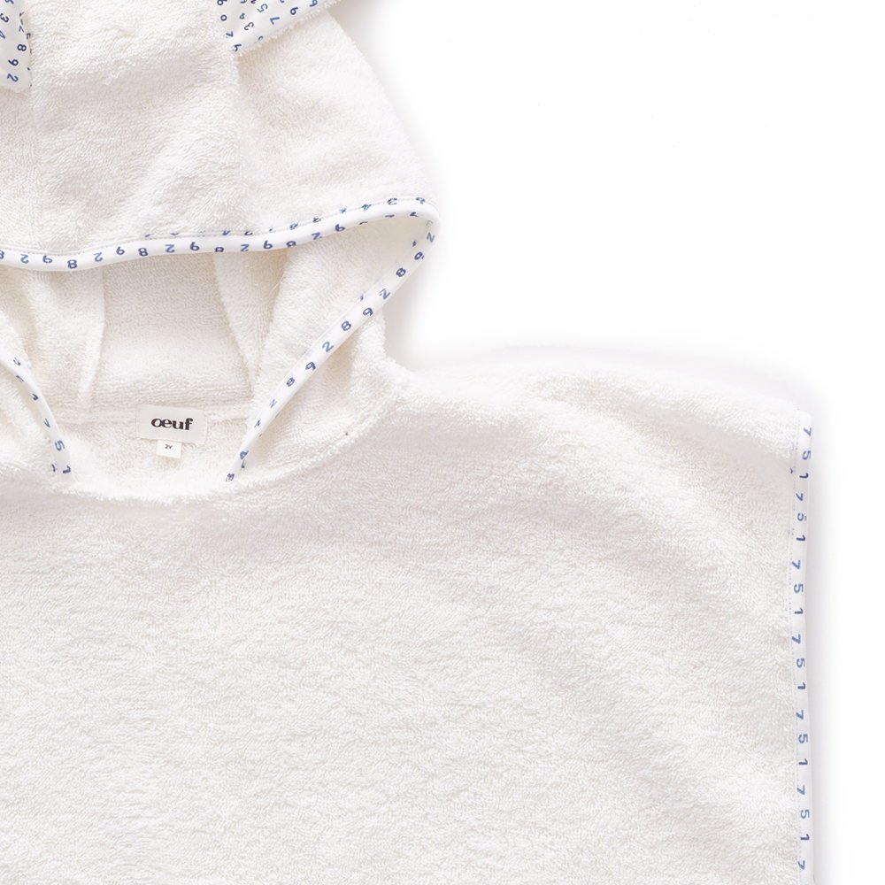 Terry Poncho white / numbers img3