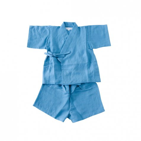 【SUMMER SALE 20%OFF】 Linen Jinbei Separate Blue