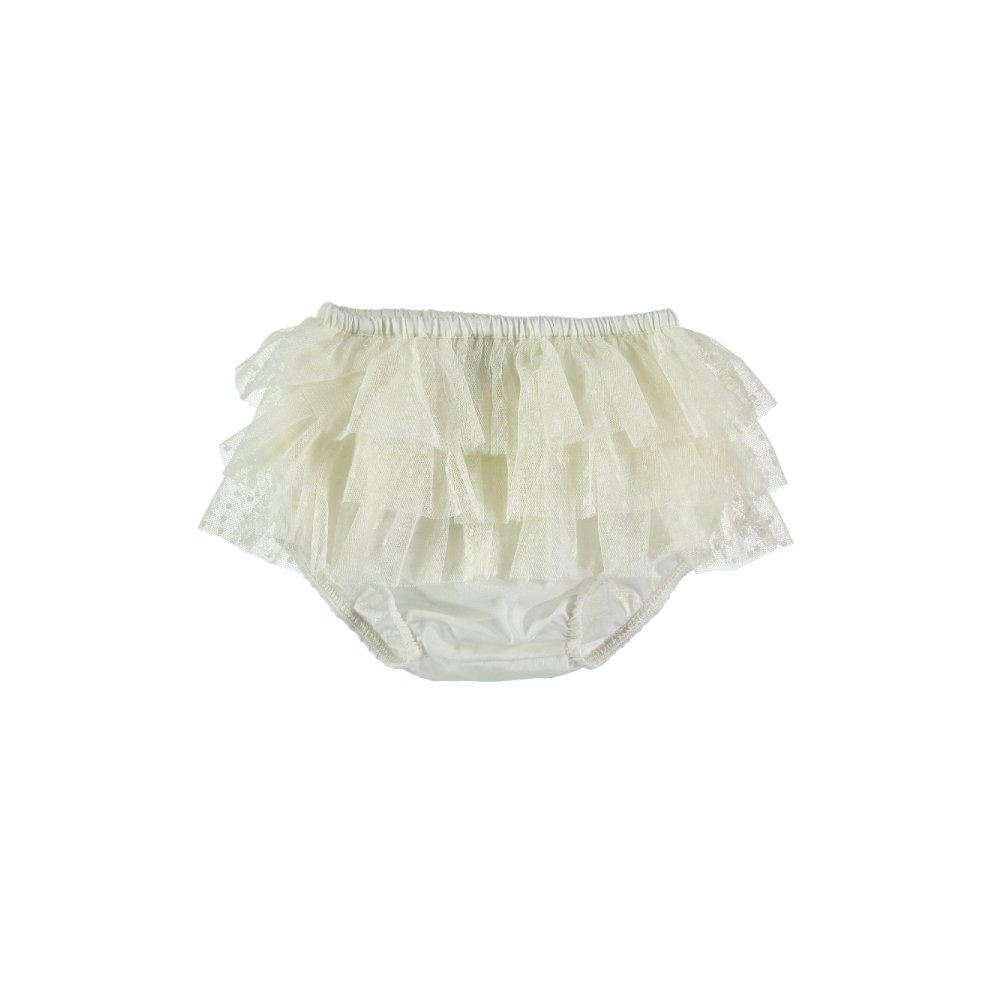【SUMMER SALE 20%OFF】 S10419. Triple Ruffle Tulle culotte img