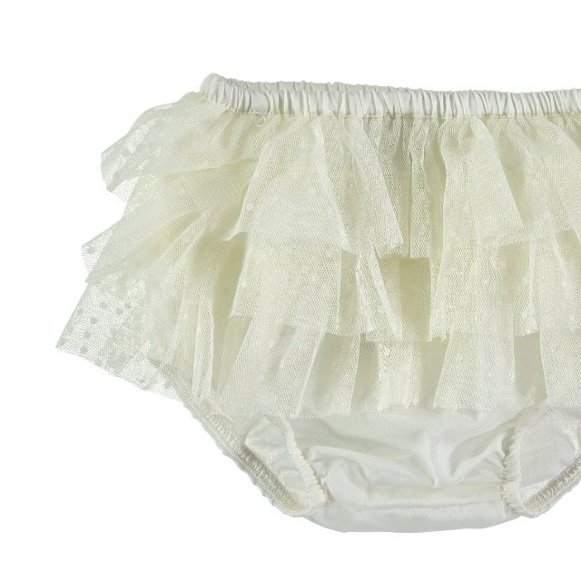 【SUMMER SALE 20%OFF】 S10419. Triple Ruffle Tulle culotte img1