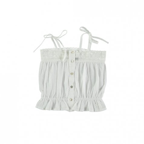 【20%OFF→30%OFF】S91019. Shoulder bows blouse with lace