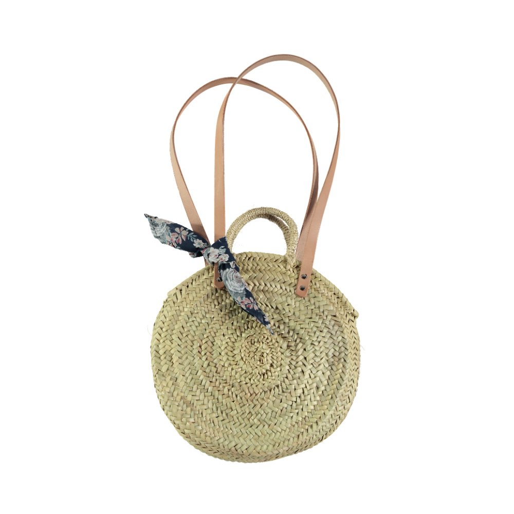 【SUMMER SALE 20%OFF】 S73219. Straw round bag img