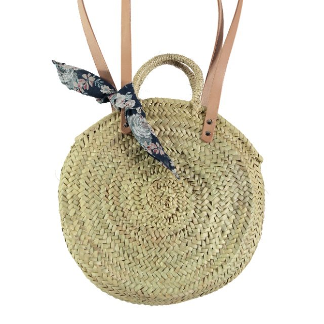 【SUMMER SALE 20%OFF】 S73219. Straw round bag img1