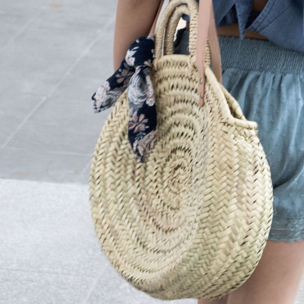 【SUMMER SALE 20%OFF】 S73219. Straw round bag img7