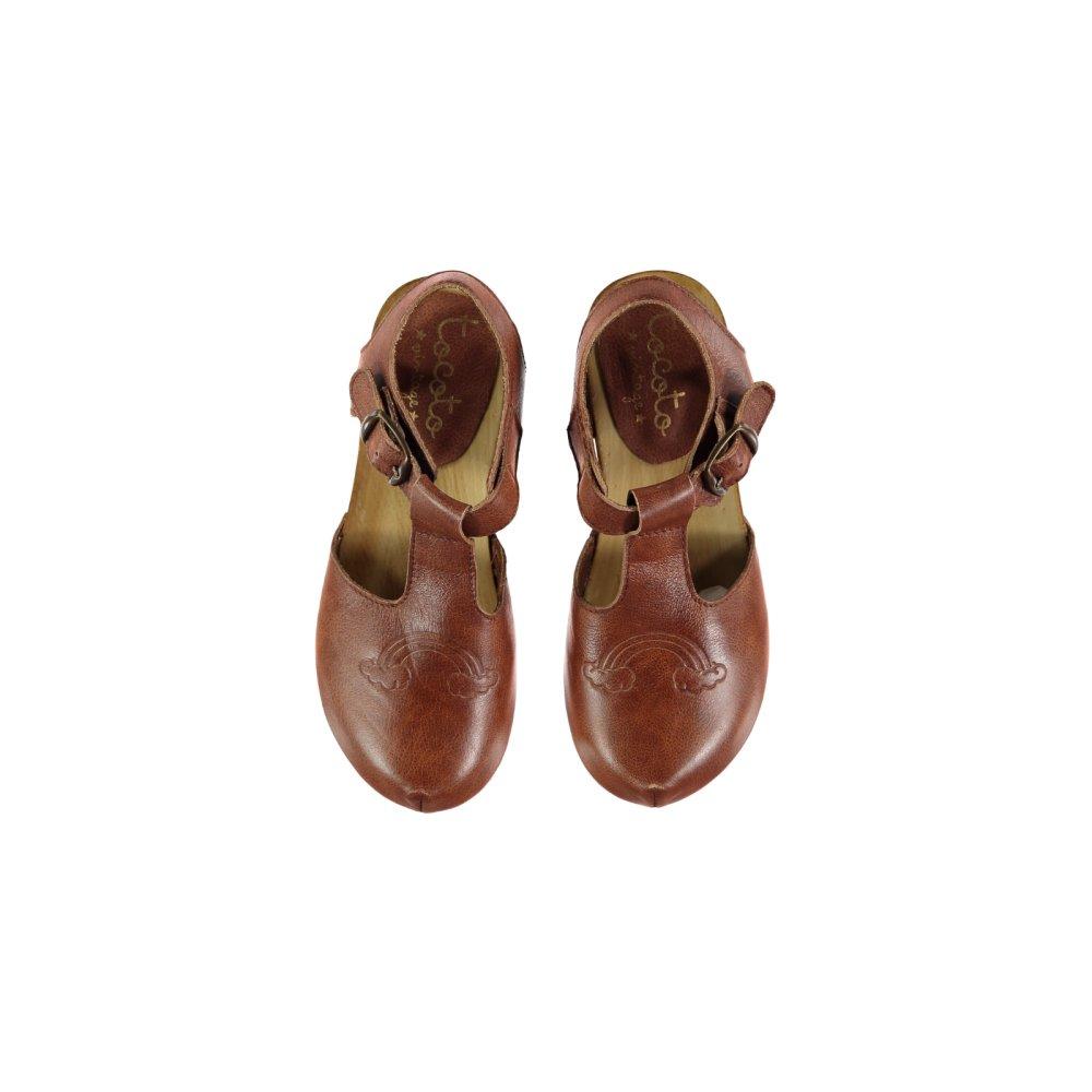 S919. Rainbow leather clogs  img