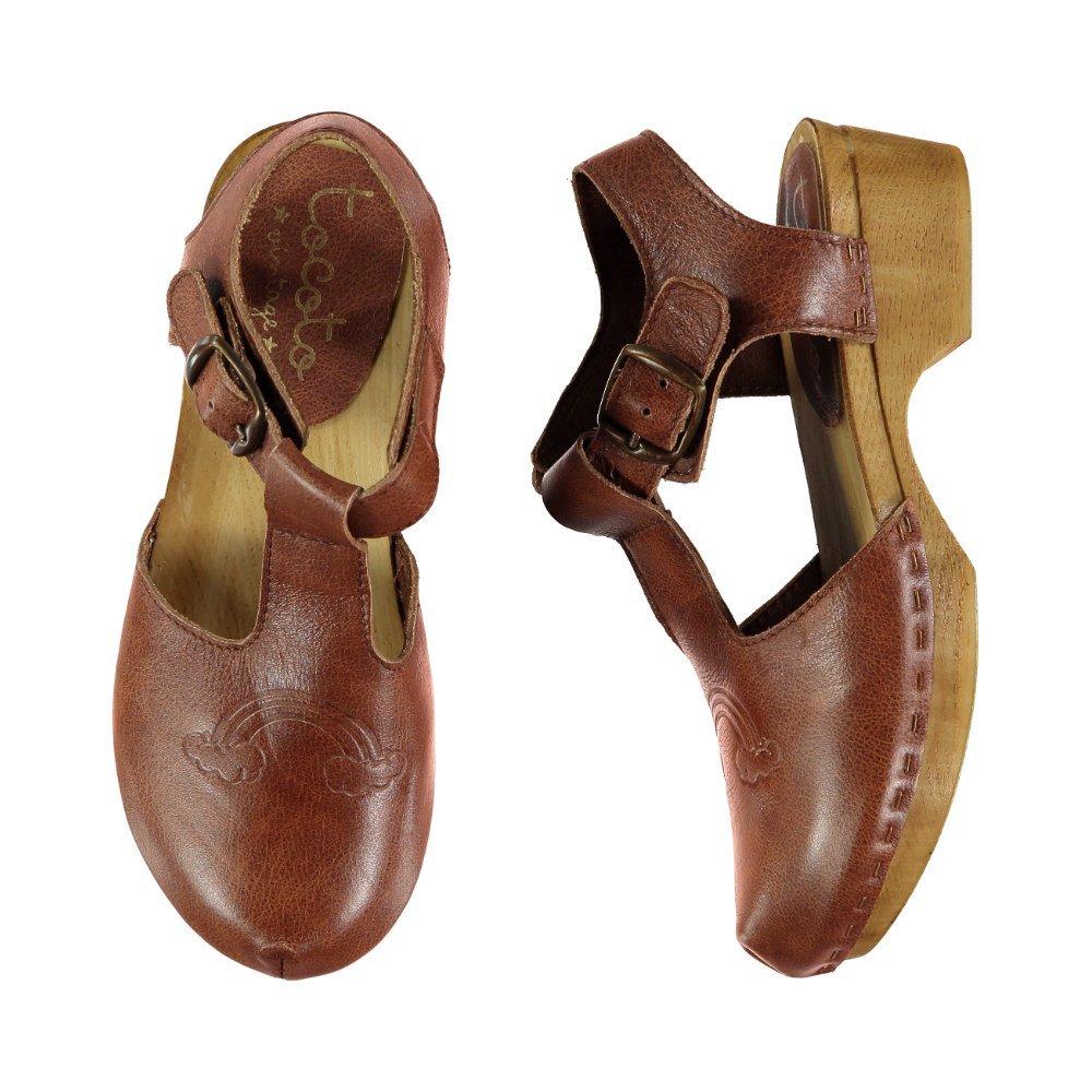 S919. Rainbow leather clogs  img1