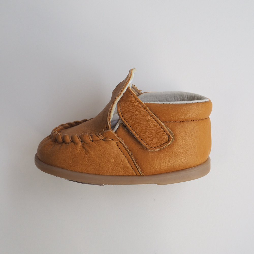 【SUMMER SALE 20%OFF】 Baby Moccasin CAMEL img1