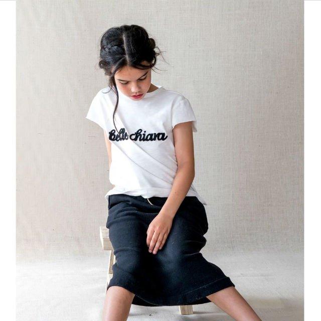 【50%OFF】CA01. LOGO Tee Beige Knitted img3
