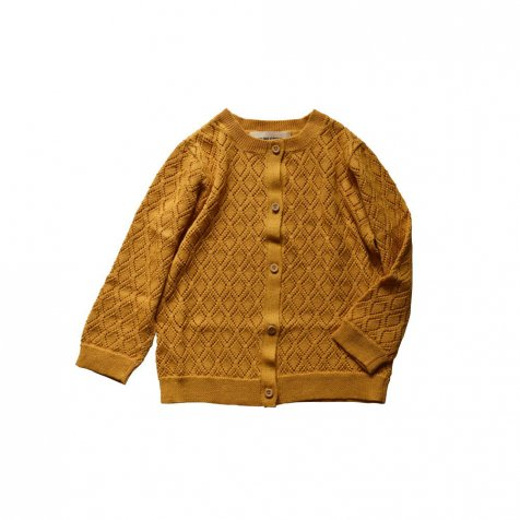 【SUMMER SALE 20%OFF】 Diamond cardigan Saffron