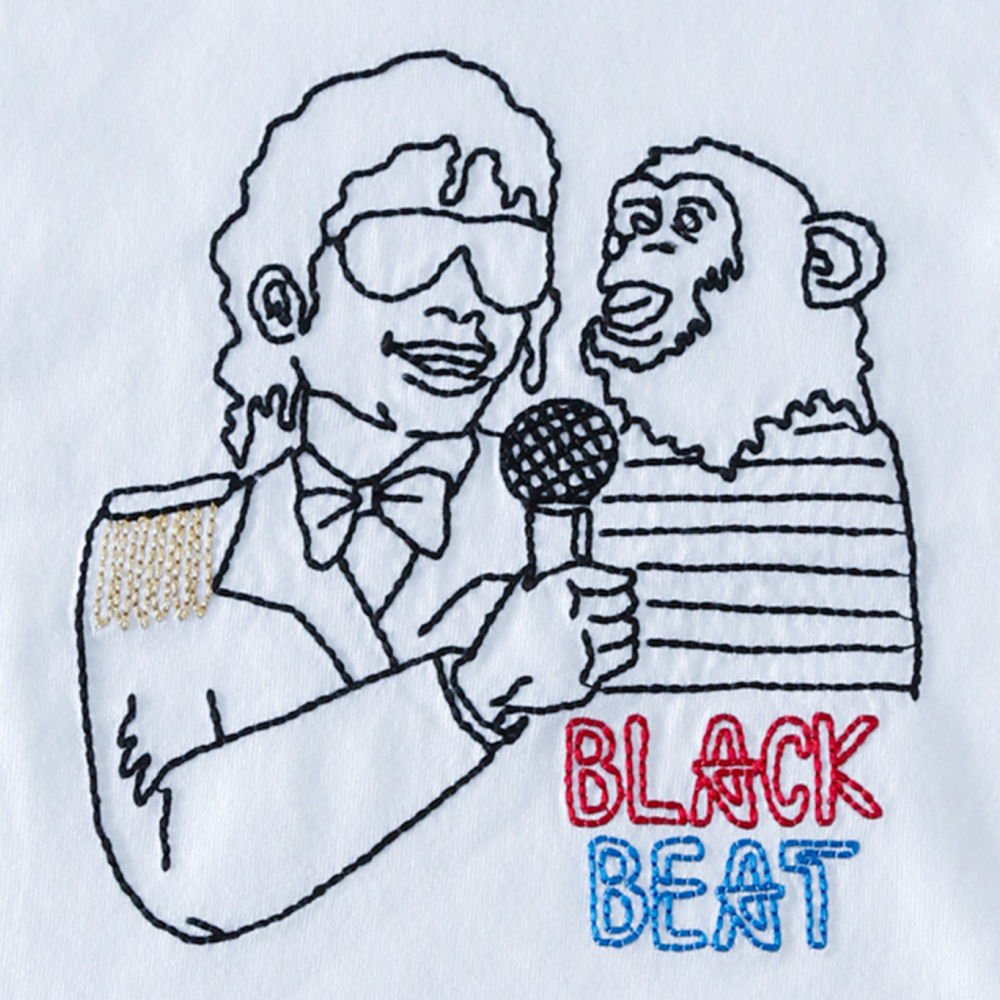 BLACKBEAT T-Shirt white img1