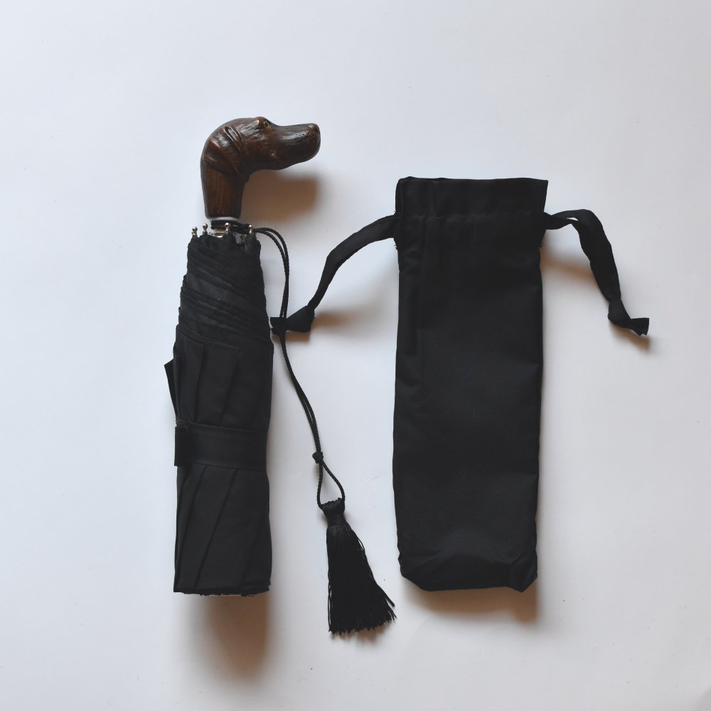folding umbrella 晴雨兼用折りたたみ傘 dog noir img2