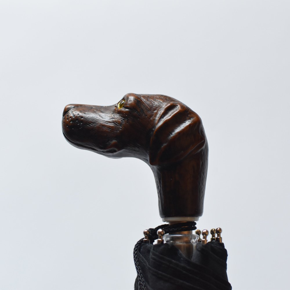 folding umbrella 晴雨兼用折りたたみ傘 dog noir img3