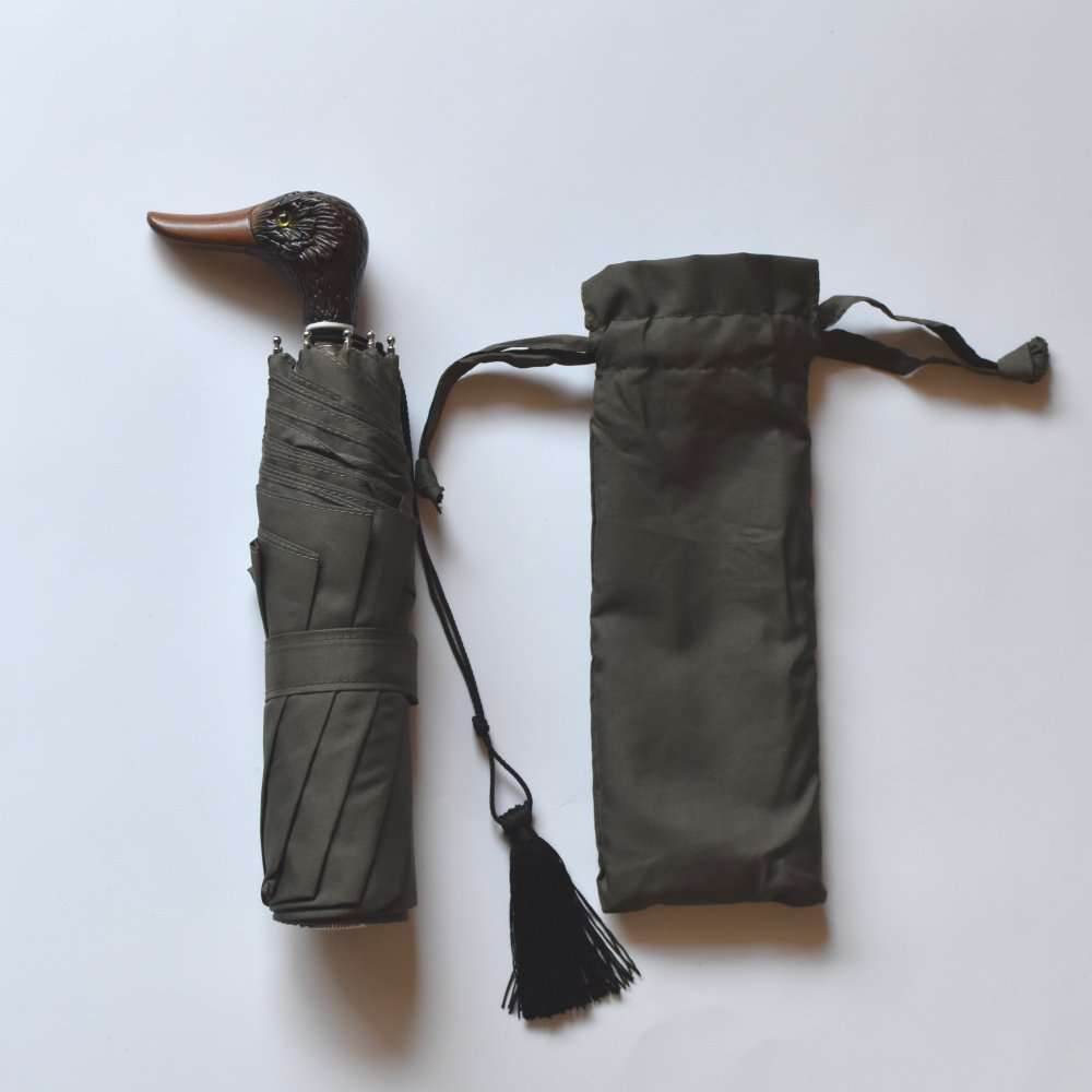 folding umbrella 晴雨兼用折りたたみ傘 duck kahki img1