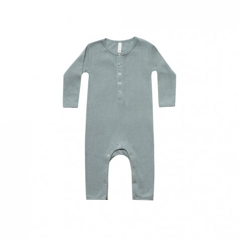 【25%OFF】Ribbed Baby Jumpsuit Sea