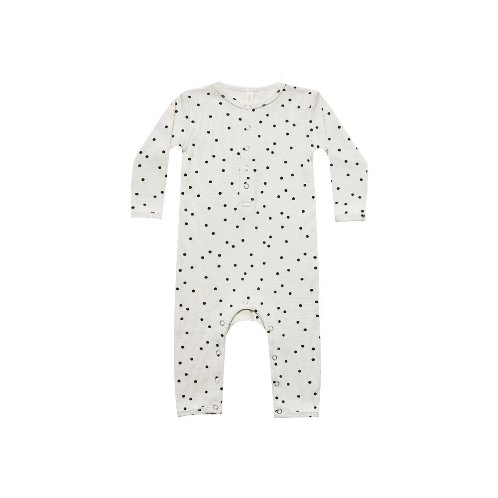 Ribbed Baby Jumpsuit Pebble img