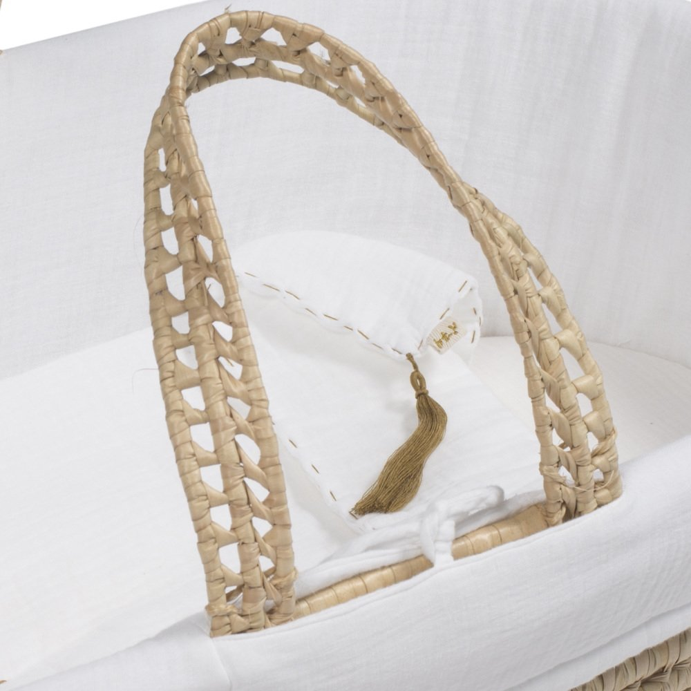 moses basket + mattress + bed linen White img5