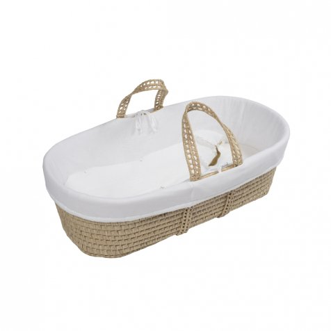 moses basket + mattress + bed linen White