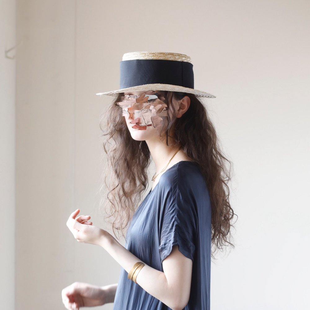 【SUMMER SALE 10%OFF】 Canotier Wide Hat Kid / Adult img4