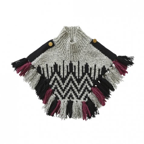 Nordic knit mantle gray x black