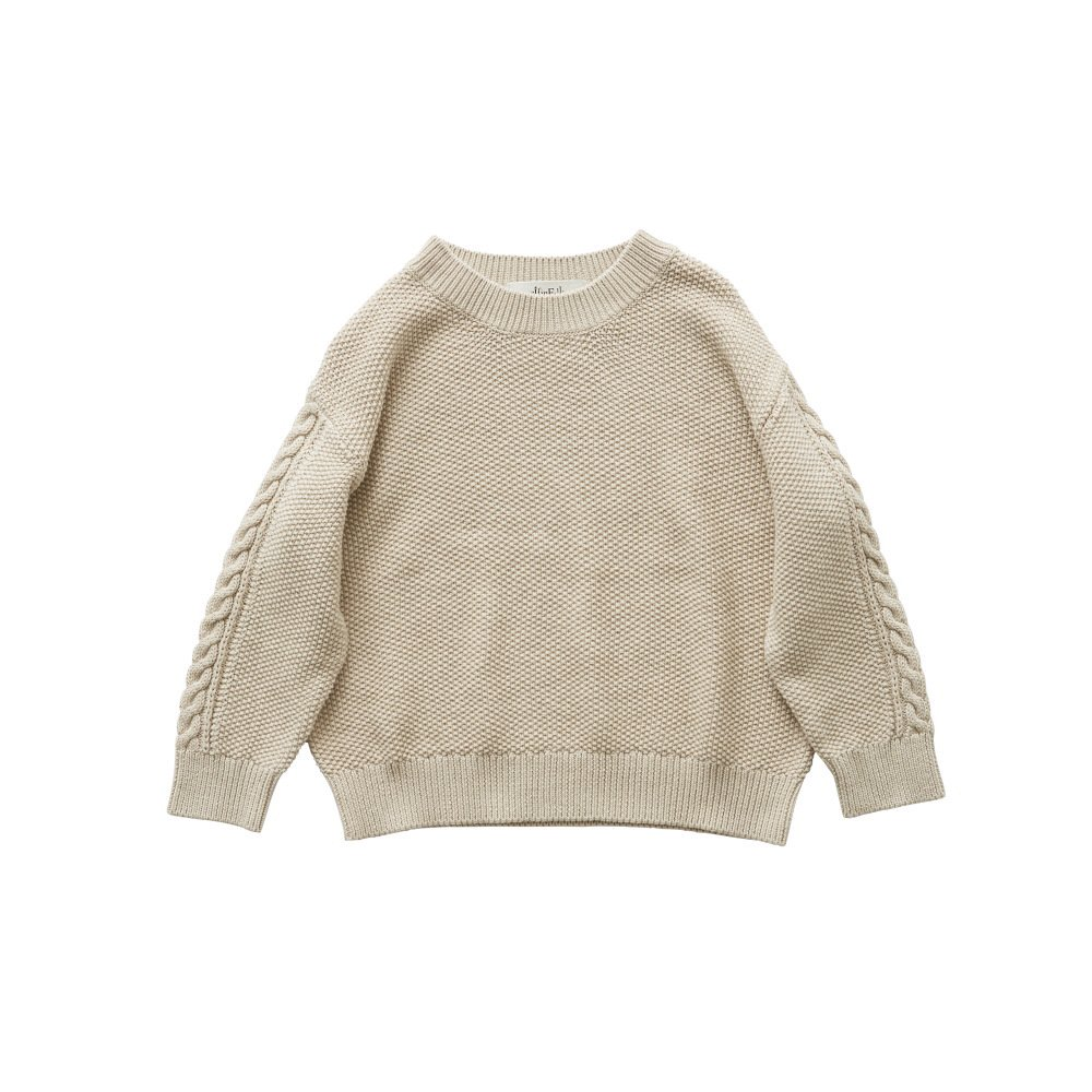 moss stitch sweater ivory img